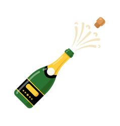 champagne bottle cartoon icon wine bottle vector image