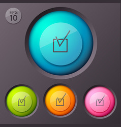 checkbox pictograph buttons background vector image