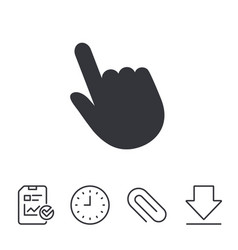 Click pointer icon hand cursor sign vector