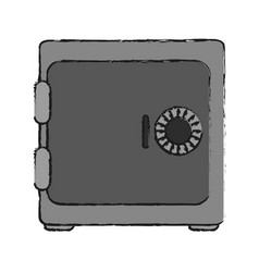 closed security box vector image