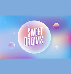 colored bubbles with reflection set on background vector image