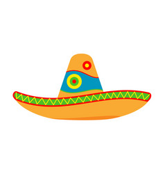 Colorful cartoon mexican hat vector