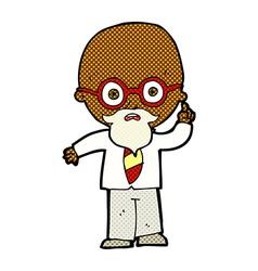 comic cartoon professor vector image