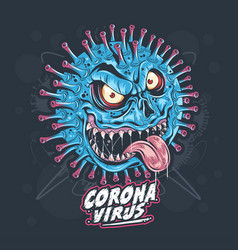 corona virus monster vector image