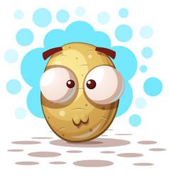 Cute crazy potato - cartoon vector