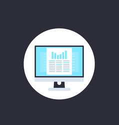 Data analytics spreadsheet icon vector