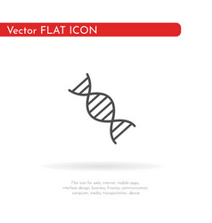deoxyribonucleic acid icon for web business vector image