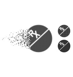 Destructed dot halftone tablet icon vector