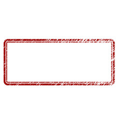 distress textured double rounded rectangle frame vector image