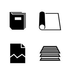 document simple related icons vector image