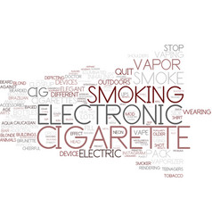 E-cigarette word cloud concept vector