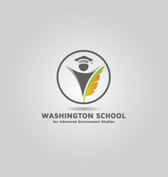 Education logo template free design vector