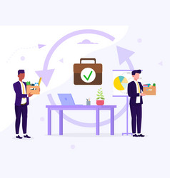 Employee replacement or hiring and firing concept vector