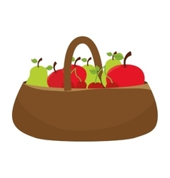 Farm vegetables product icon vector