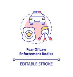 Fear law enforcement bodies concept icon vector