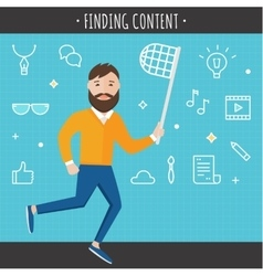 Finding Content Concept vector image