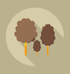 Flat modern design with shadow icons lumber vector