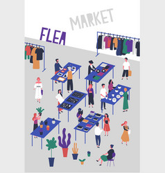 flyer or poster template for flea or fashion vector image