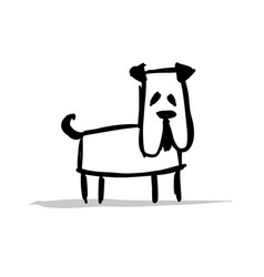 funny bulldog sketch for your design vector image