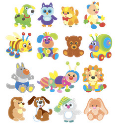 funny toy animals vector image