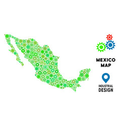 Gears mexico map composition vector