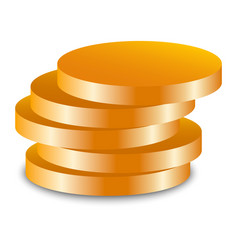 gold jewish coin icon realistic style vector image