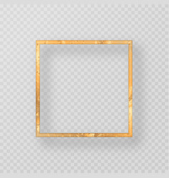 grunge golden frame with shadow vector image