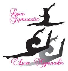 Gymnastic gymnast silhouettes set vector