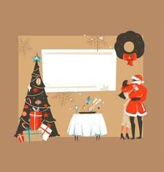 hand drawn abstract fun merry xmas time vector image