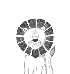 Hand drawn lion poster for baby room vector