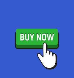 hand mouse cursor clicks the buy now button vector image