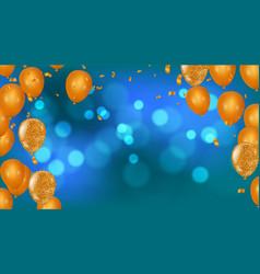 happy birthday greeting card party invitation vector image