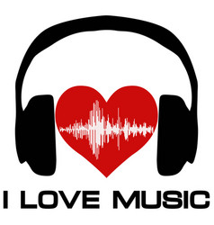 I love music vinyl cover for a music fan vector