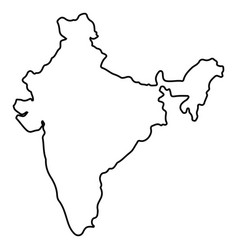 isolated indian map vector image
