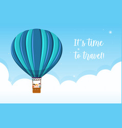 its time to travel vector image