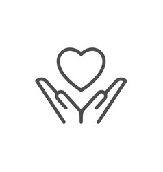 Love line icon vector