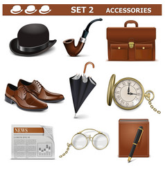 Male Accessories Set 2 vector