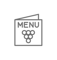 menu wine list line icon vector image