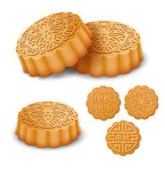 Mooncakes for mid autumn festival vector