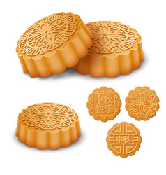 mooncakes for the mid autumn festival vector image