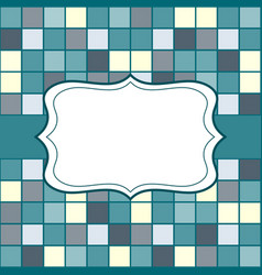 Mosaic frame place for text invitation vector