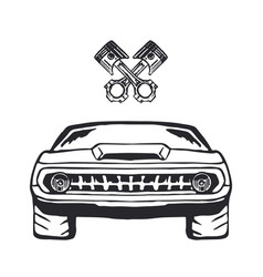 Muscle car hand drawn on white vector