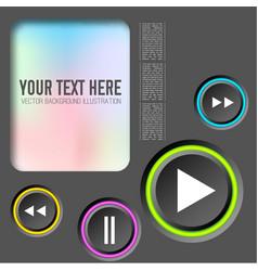 Musical web design concept vector