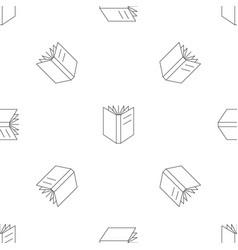 open school book pattern seamless vector image