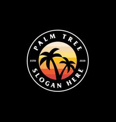palm tree logo design vector image