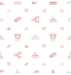 Pyramid icons pattern seamless white background vector