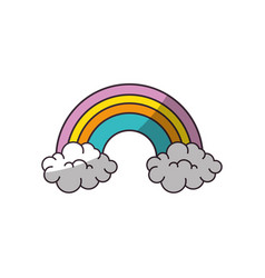 rainbow icon image vector image