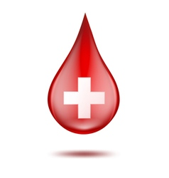 Red blood drop vector image