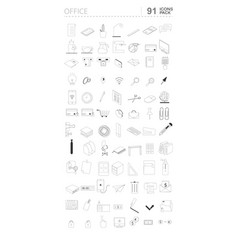 Set icons office tematics and supplies vector