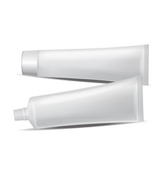 set of plastic tube for medicine or vector image